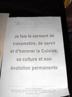 Honorierung eines französischen Museums. Honorierung die Kunst der ital. Küche zu lehren.