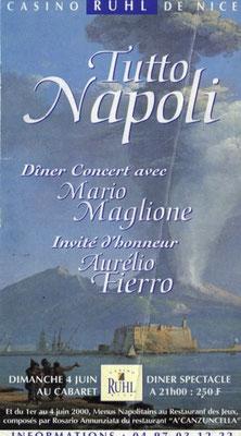 Gemellaggio Napoli - Nizza. Frankreich