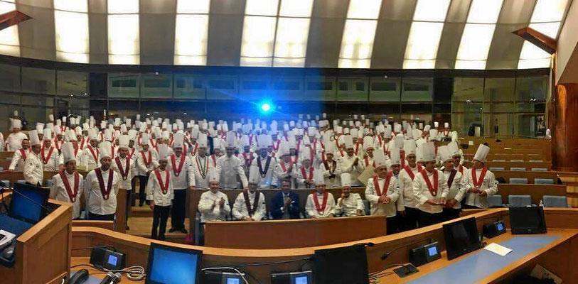 Italienisches Parlament in Rom. Prämierung der besten italienischen Köche.