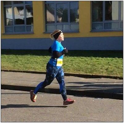 Katja bei einem Wettbewerb.