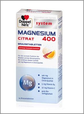 Doppelherz system MAGNESIUM 400 CITRAT BRAUSETABLETTEN