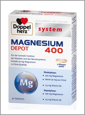 Doppelherz system MAGNESIUM 400 DEPOT
