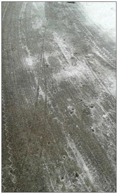 Eher die Ausnahme: Schnee und Eis auf der Laufstrecke