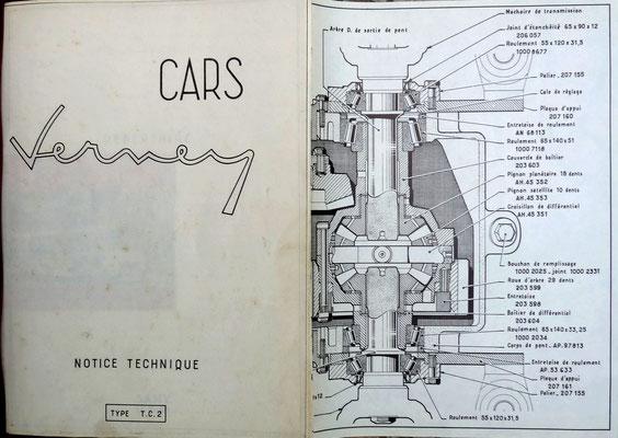 Extrait notice technique années 1960 (collection Gaudin)