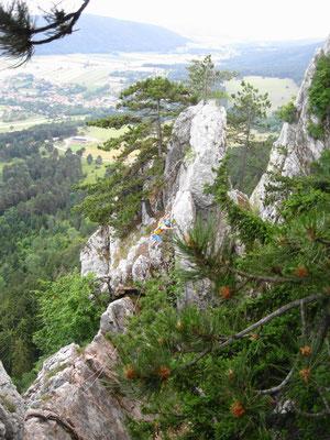 am Grat vom Fuchslochturm Richtung Fuchslochsteig
