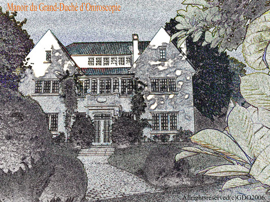 Artwork of the Manor, signed by the Grand Duchess