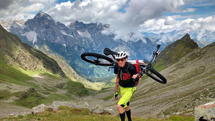 Juli/ August 2017: Mit Stefan auf südtiroler Wanderpfaden gen Meran (wir landen in Torbole)