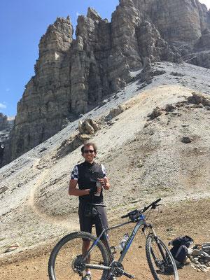 """Juli 2017: Mit Emanuel durch die Tiroler """"Dolomitenwände"""" oberhalb KematerHütte"""