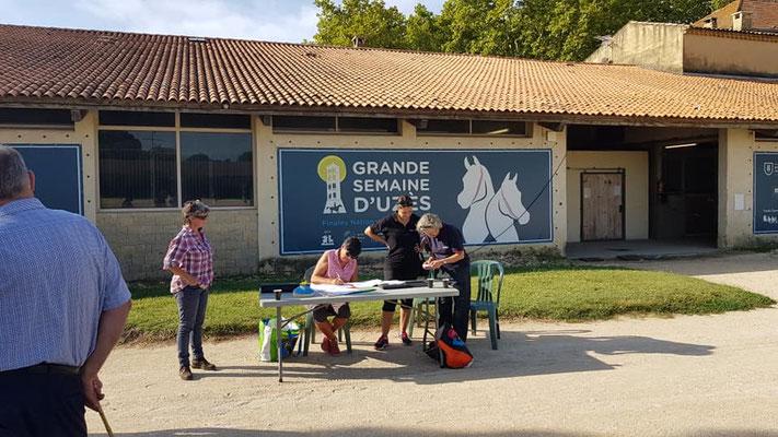 Épreuve modèles et allures à Uzès avec l'association des Ânes de Provence