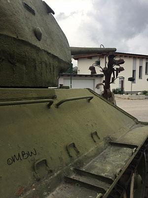 T34 Kampfpanzer Rohr