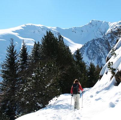 ski de randonnée encadré par un moniteur sur kraphut.net