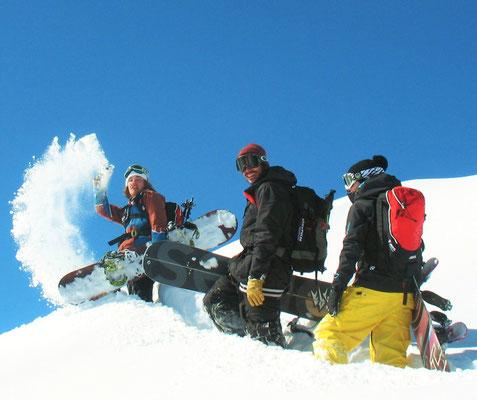 session snowboard à la Mongie et Barrège avec Krapahut