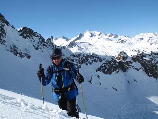 Freerando en ski ou en snowboard sur la Mongie et Barrège