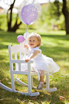 Sommer, Kinderfotos, zart, lieblich, Kinder, Luftballon, weiß