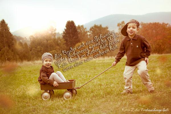 Geschwisterliebe, Herbst, Fotografin, Foto Lange Suhl