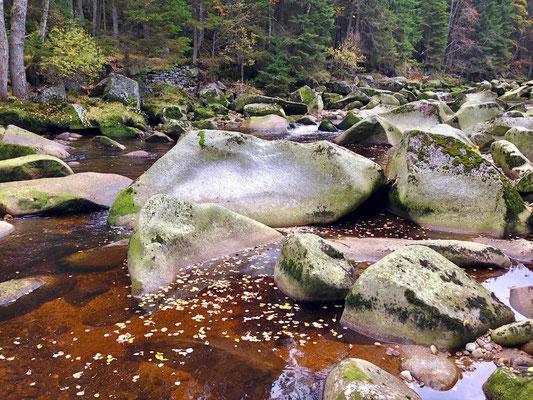 Der Fluss Vydra im Böhmerwald