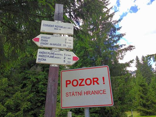 Entlang und über der bayerisch/tschechischen Grenze