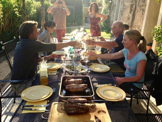 Abendessen in der Provence