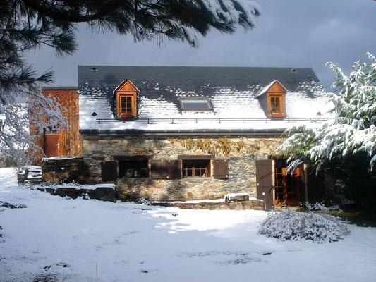 La façade Sud en hiver