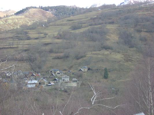 Le village de Gouaux de Luchon vu depuis les chambres