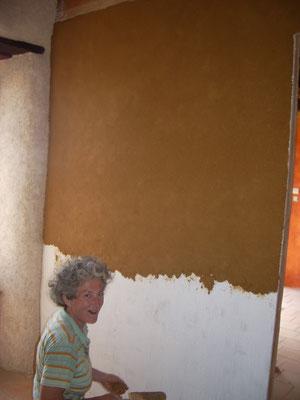 enduit terre sable -La Claie des Landes