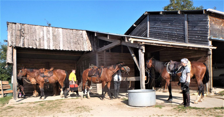 accueil de cavaliers- la claie des landes
