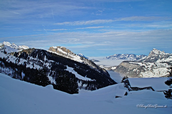 Oberhalb der Alp Ahöräli