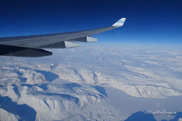 Wir überfliegen Grönland...fantastisch!