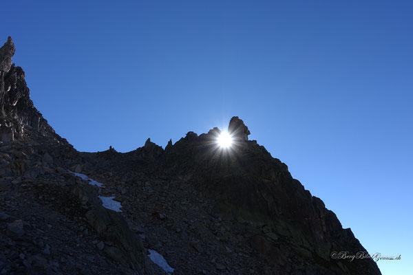 Nixe mit Sonne im Rücken