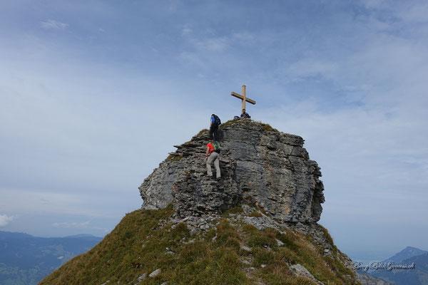 Letzte Meter zum Gipfel des Haupts