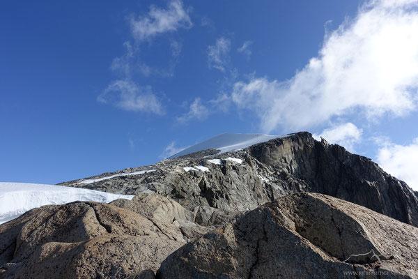 Sicht in Richtung Gipfel
