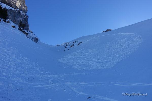 Fernausgelöstes Schneebrett