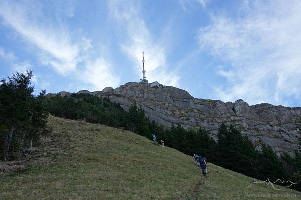 Gipfel in Sicht beim Tristenbodä