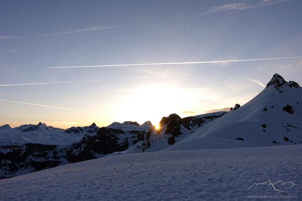 Sonnenaufgang auf Ruosalper Chulm