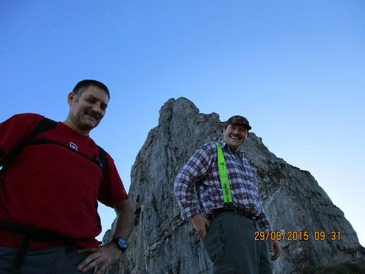 Thomas und Urs - heute zum ersten Mal unterwegs an den Chilchbergen und am Höch Turä