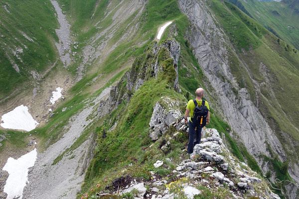 Abstieg über den Ostgrat