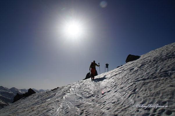 Bald am Gipfel der Fibbia