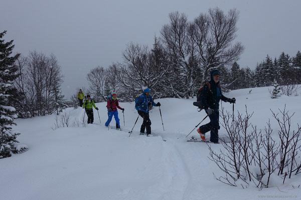 Erste Schritte im norwegischen Winter 2020...die Stimmung ist sichtlich gut...