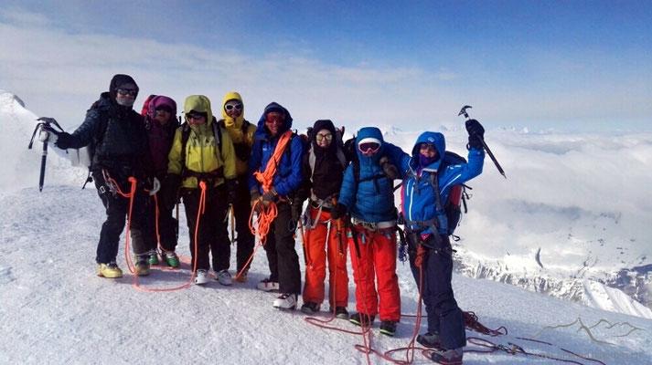 Gipfeltrupp (Bild von Reto)