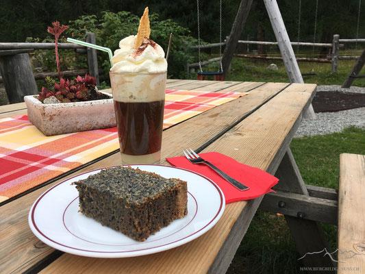 Wieder zurück in Morteratsch..die Kuchen der Schaukäserei schmecken einfach wunderbar!