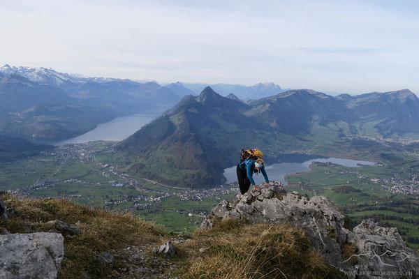Gipfelankunft Haggenspitz
