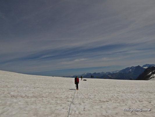 Rückweg über den Gletscher