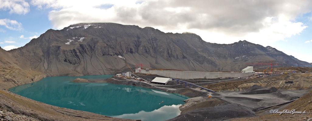 Die hochalpine Grossbaustelle im Panorama