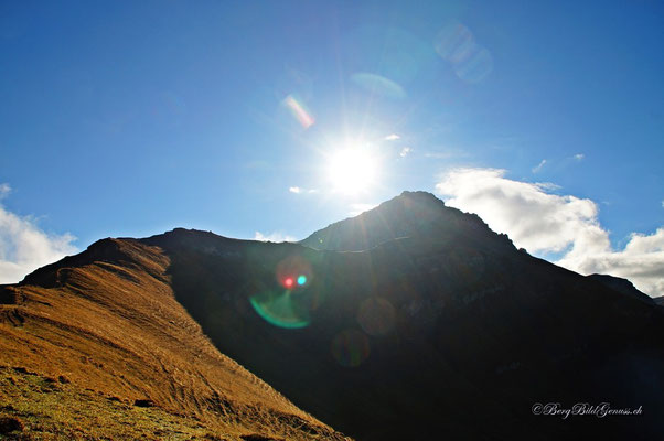 ...aber am Augstenberg lacht (noch) die Sonne...