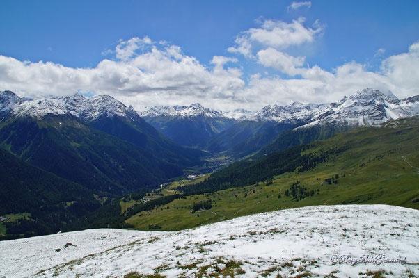 Gut sichtbare Schneegrenze