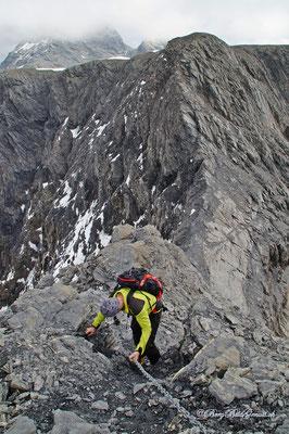 Abstieg ins Drahtseilfurggeli