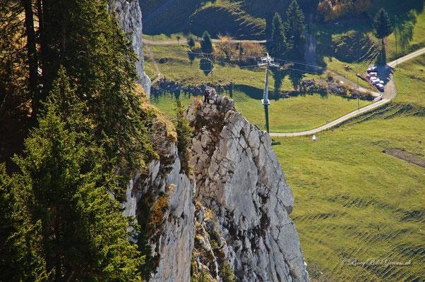 Kletterer auf dem Adlerspitzli