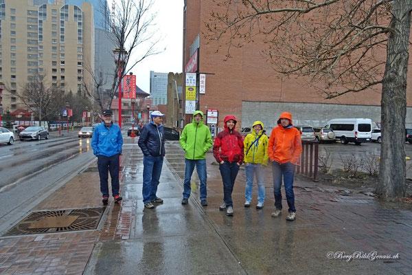 Die Probleme mit Gepäck bescheren uns einen Stadtrundgang in Calgary..