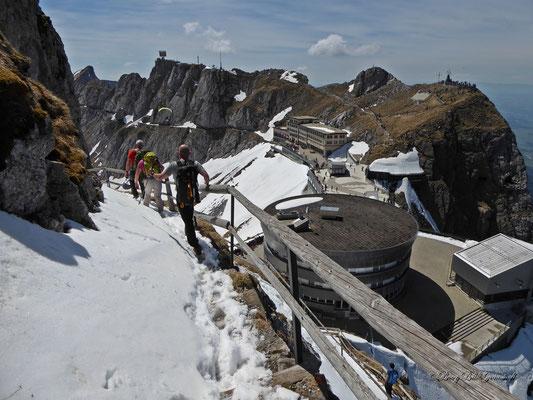 Noch liegt der Wanderweg im Schnee...