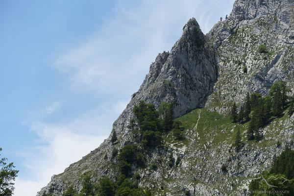 Im Abstieg - nochmals das Aderspitzli.